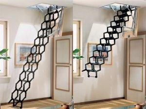 Раздвижные и выдвижные чердачные лестницы