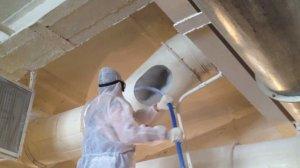 Очистка вентиляционной системы во время проведения ремонта