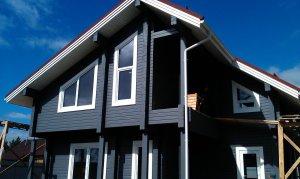 Наружная покраска дома из бруса